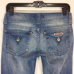 Hudson Jeans 26 Boot Cut Light Wash Flap Pockets